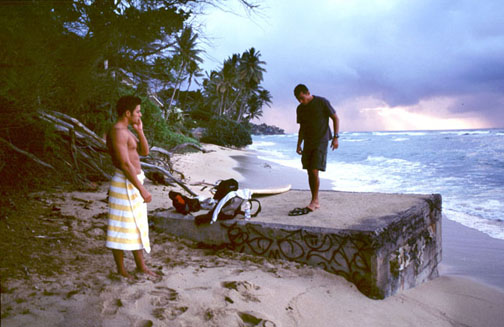 Sunrise at Diamond Head, with Shawn (left) and my friend and assistant, Jimmy, on the right.