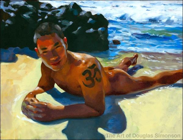 Om Tattoo painting