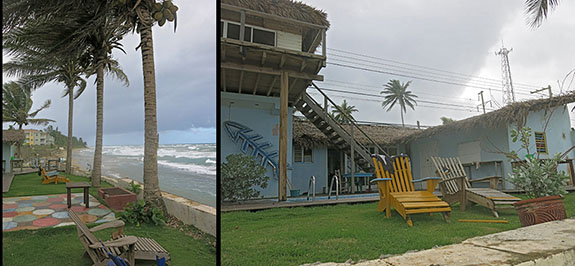 Cabarete bch hostel in rain