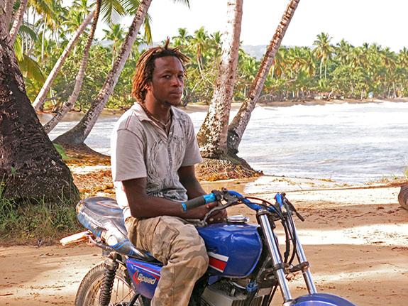 Jorge on bike