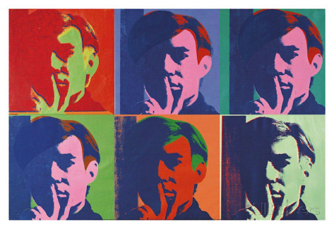 Andy warhol a set of six self portraits 1967